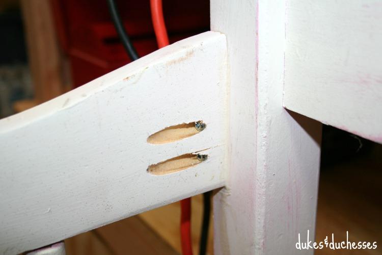 kreg jig holes to attach armrest