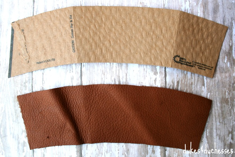 pattern for leather coffee cuff