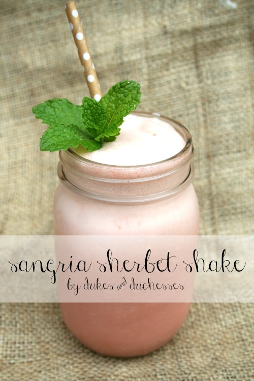 sangria sherbet shake