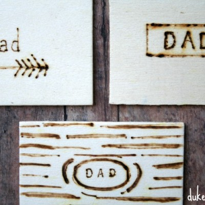 Wood Burned Gift Tags