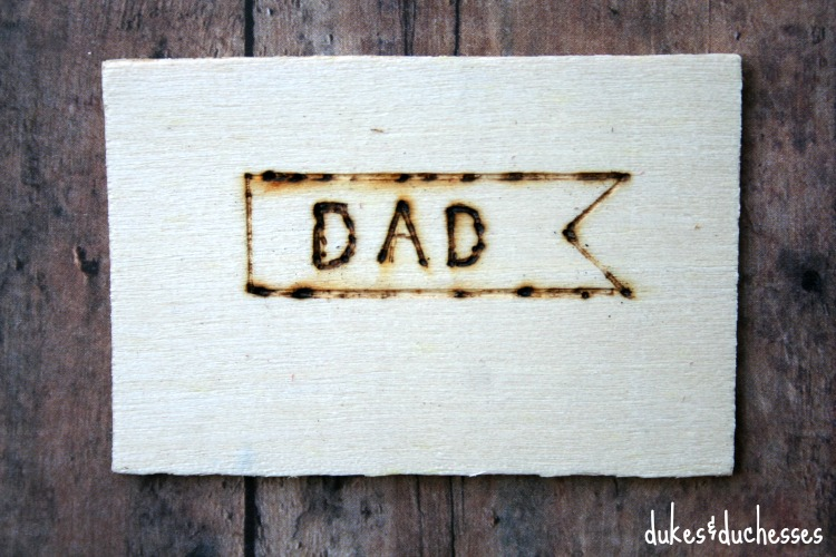 wood tag for father's day