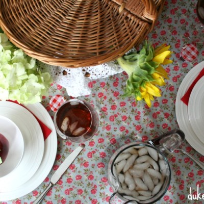 a bright summer tablescape