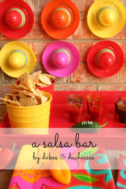 a salsa bar