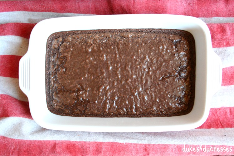 baked brownies for s'mores
