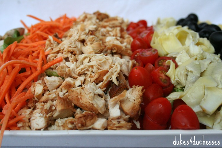 cobb salad with barbecue chicken