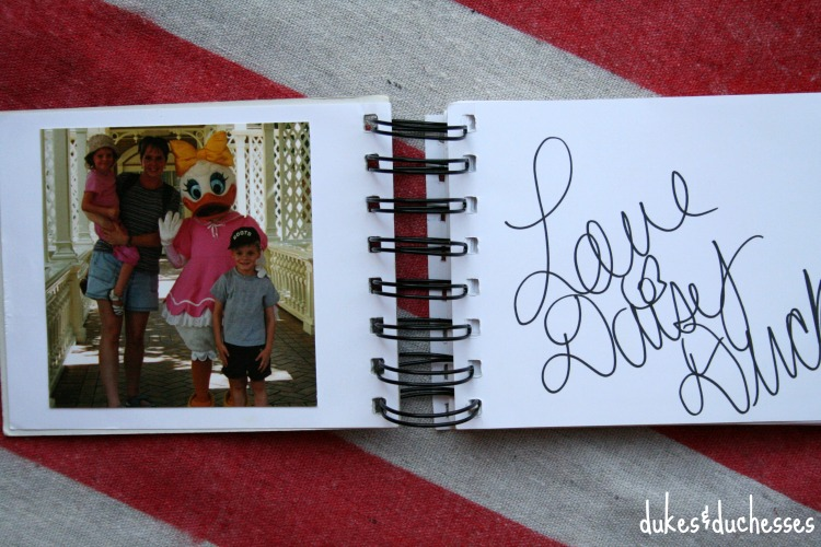 daisy duck autograph in disney autograph book