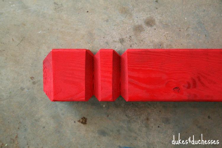 deck post for DIY hose holder