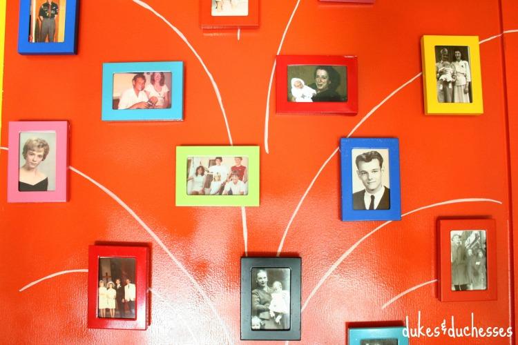 framed family photos
