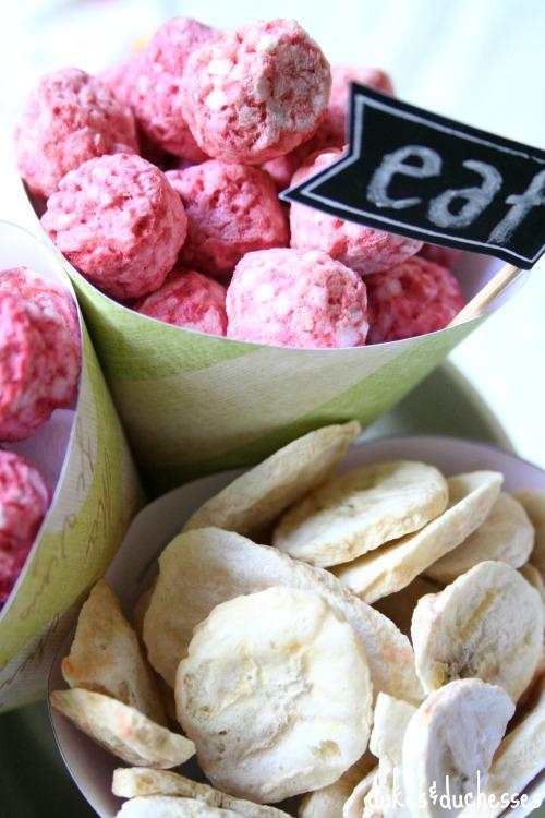 healthy snacks in paper cones