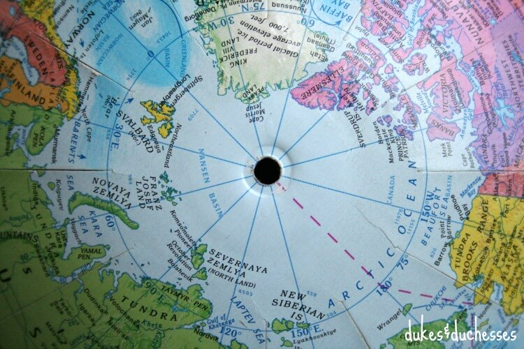 hole in top of globe