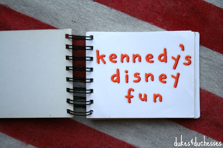 homemade disney autograph book