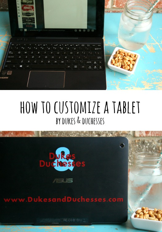 how to customize a tablet