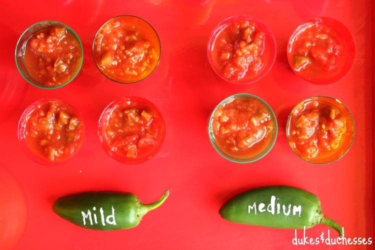 individual salsa servings