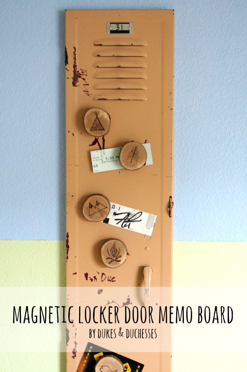 magnetic locker door memo board