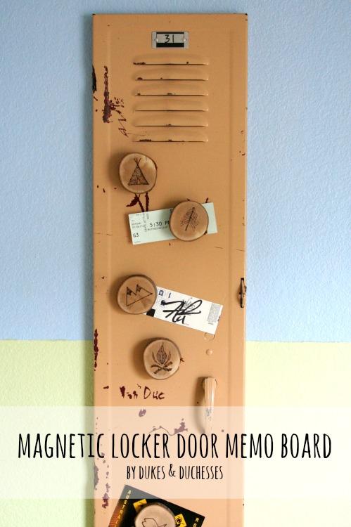 magnetic locker door memo board