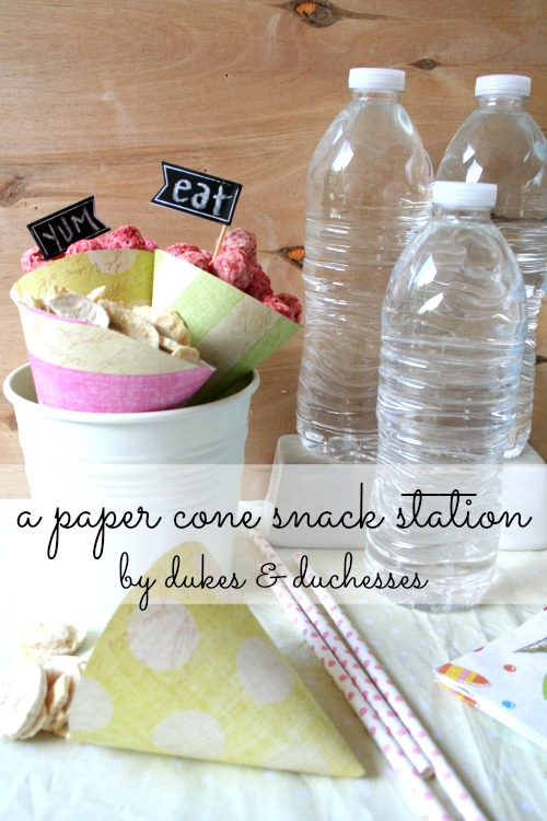 paper cone snack station