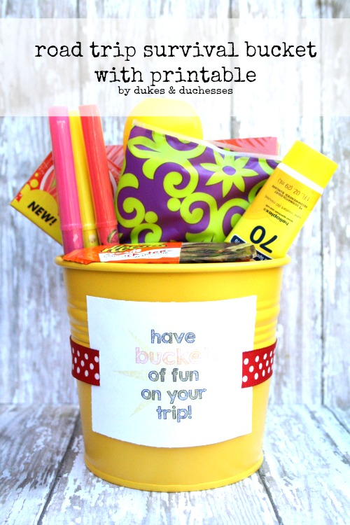 road trip survival bucket
