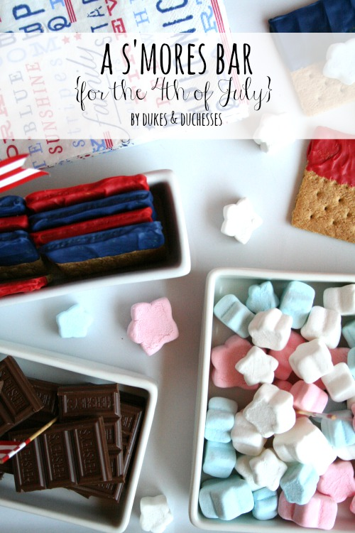s'mores bar for the 4th of July