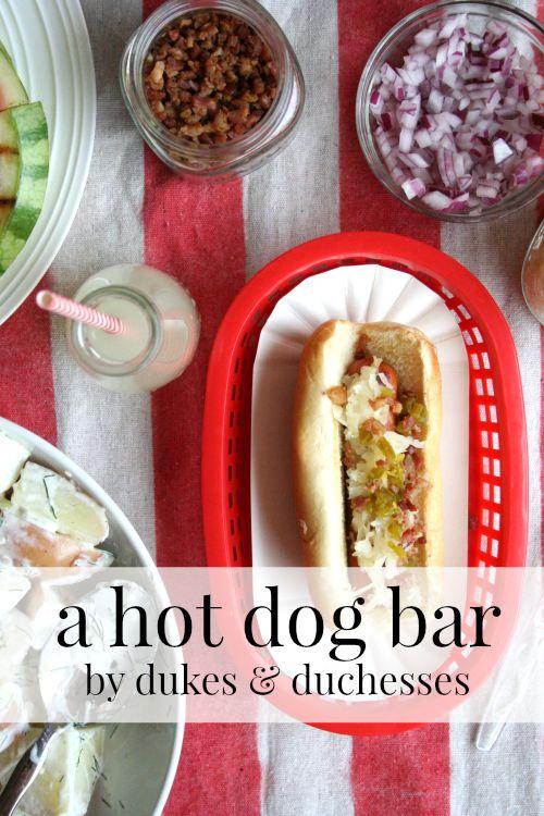 a hot dog bar