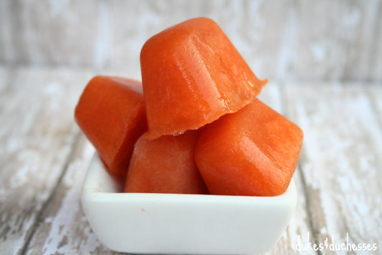 carrot beef dog popsicles
