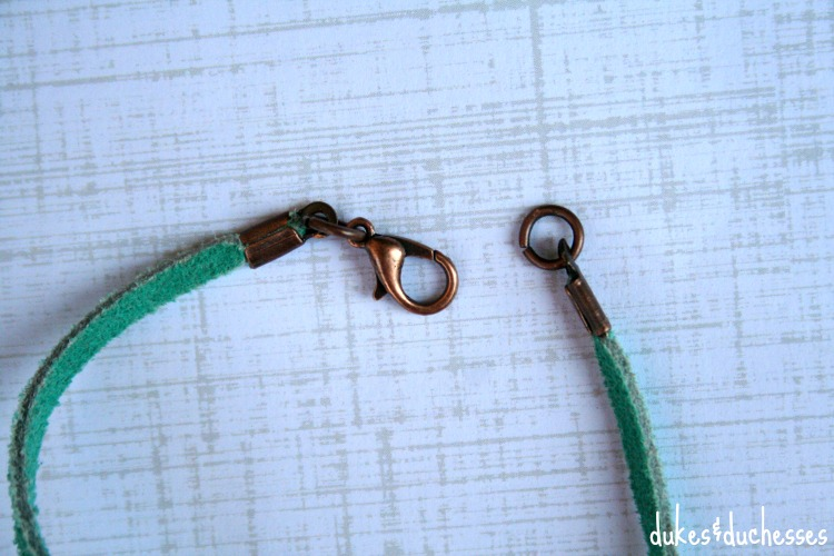 copper fixings for pressed coin bracelet