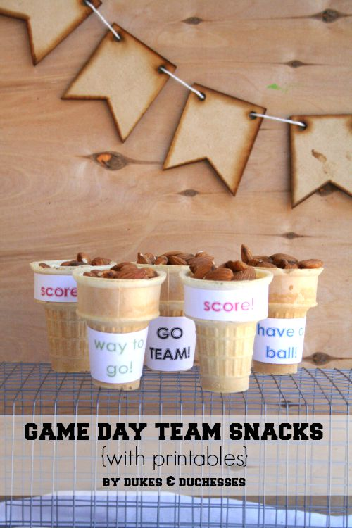 game day team snacks with printables dukes and duchesses