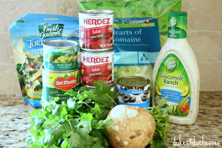 ingredients for southwestern chicken salad