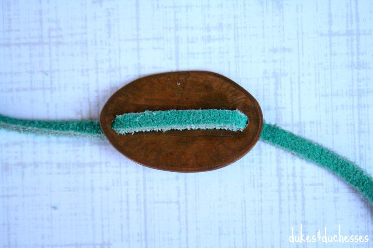leather cord for souvenir coin bracelet