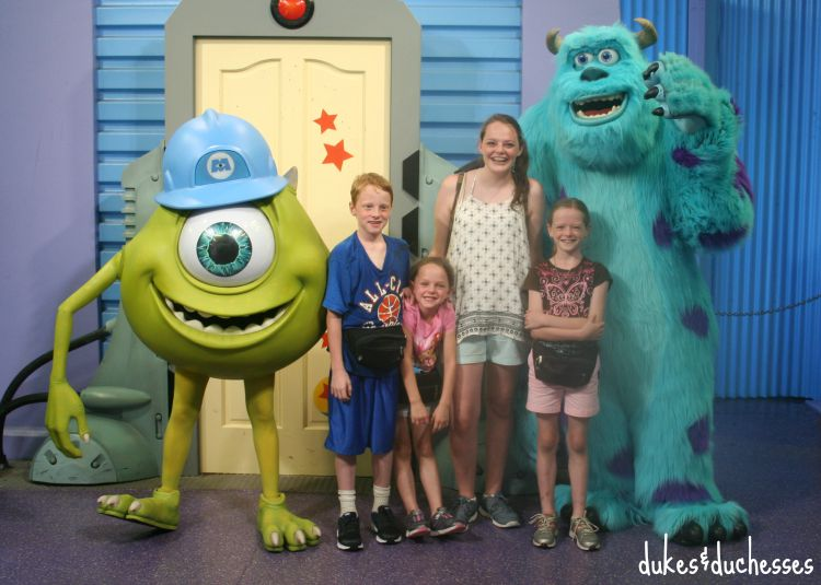 monsters inc characters at disney world