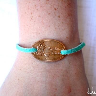 DIY Pressed Souvenir Penny Bracelet