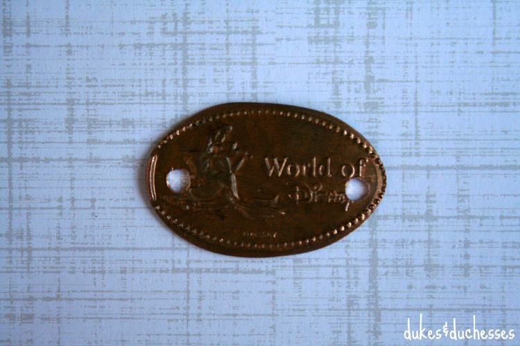 pressed souvenir coin from disney
