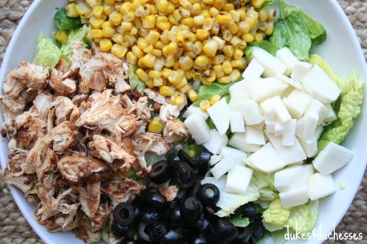 salad with southwest flavors