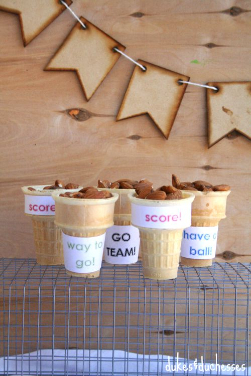snack cones for game day