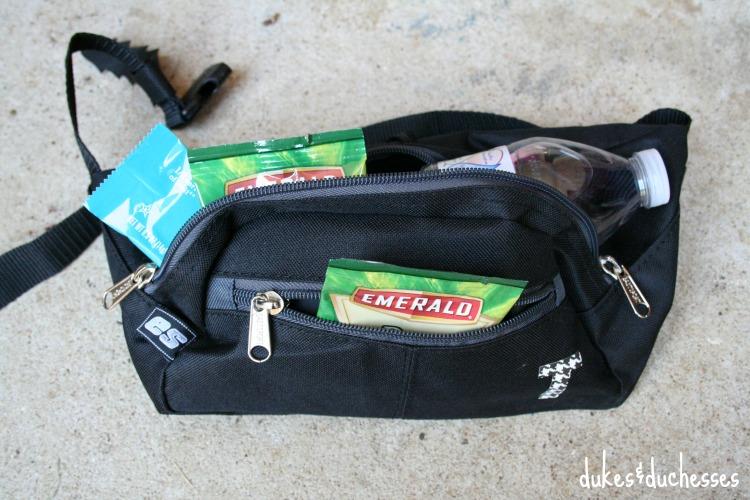snacks in fanny pack