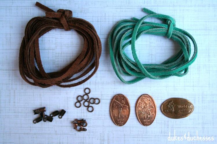 supplies for souvenir coin bracelet