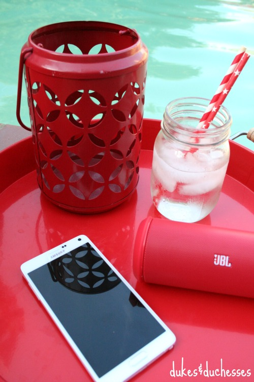 wireless speaker by the pool