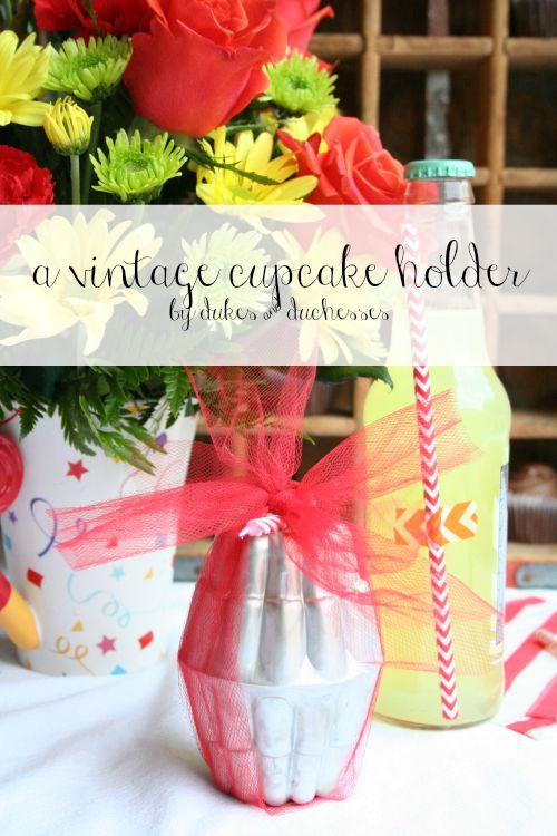 a vintage cupcake holder