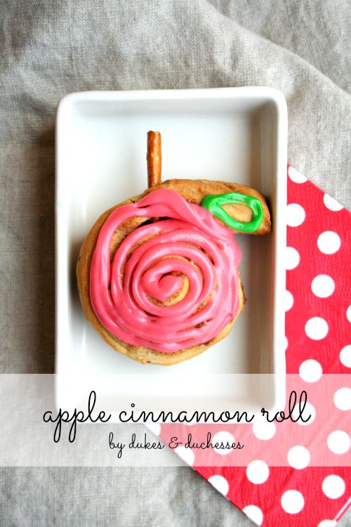 apple cinnamon roll for fall