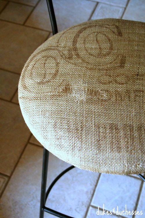 coffee sack barstool