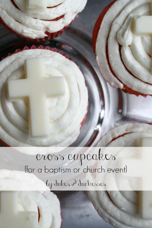 cross cupcakes for baptism