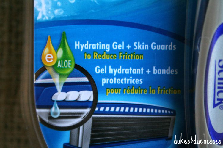 hydrating gel in schick razor