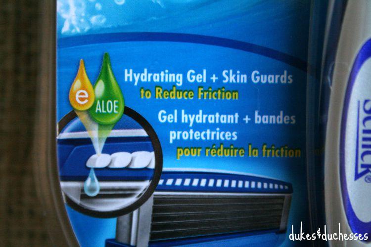 hydrating gel in schick razor