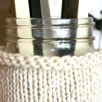 Knit Mason Jar Cozy