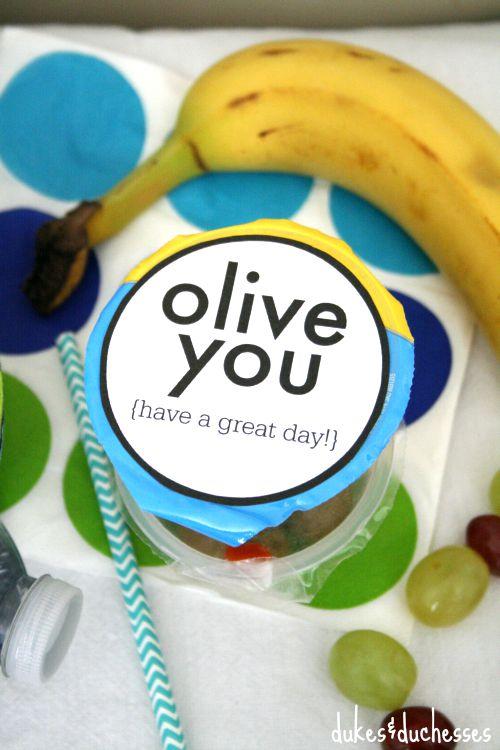 olive you free printable
