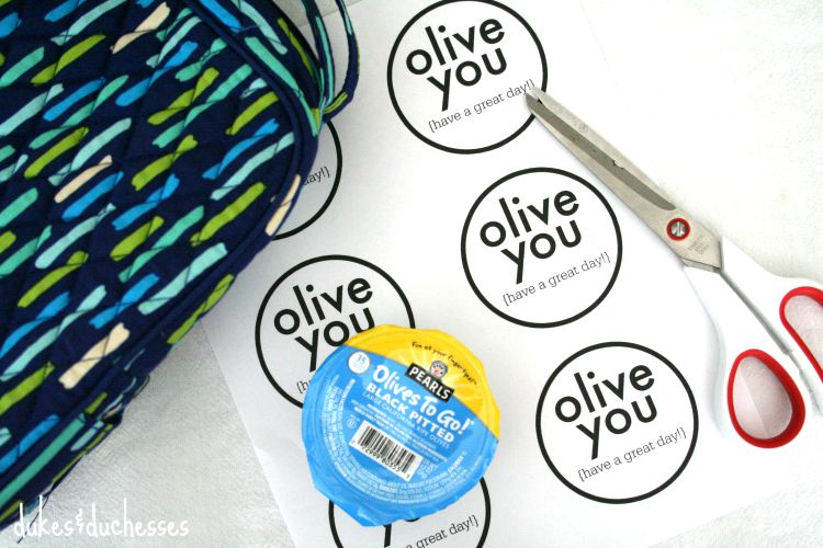 olive you printable for lunch box