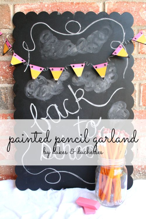 painted pencil garland