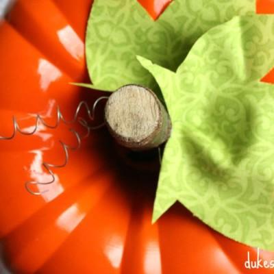 Repurposed Bundt Pan Pumpkin