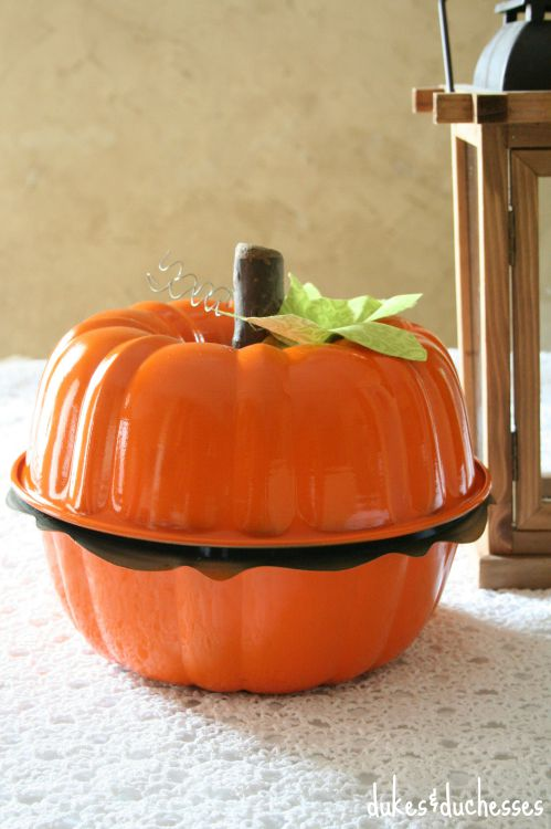 pumpkin made from two bundt pans