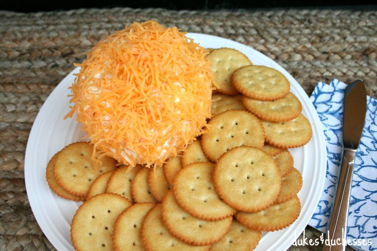 ranch cheese ball with crackers