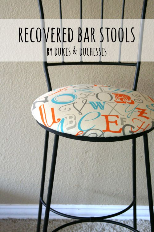 recovered bar stools